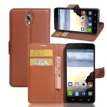 Brand Tuke Wallet Leather Flip Case for Alcatel One Touch Idol X TCL S950 6040 6040A 6040D cover with Card Holder