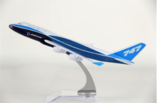 hot sell plane model Boeing 777-400 aircraft model 16cm Alloy simulation airplane model for kids toys Christmas gift