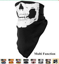Halloween Skull Skeleton Party magic scarf  Multi Function Bandana Face Mask Neck Headwear Hat Scarf Neck Scary