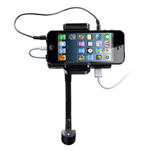 Free shipping for apple iphone6/5 s/c car mp3 player recharge hands-free mobile phone FM transmitter bracket