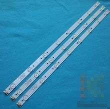 6pcs/set 32'' 613mm*17mm 8leds 2pin TV Panel Backlight Lamps LED Strips w/ Optical Lens Fliter New