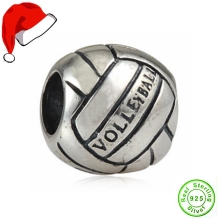 100% Authentic 925 Sterling Silver Beads Sport Volleyball Charm Bead fit for Pandora bracelets & Necklaces