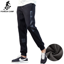 Pioneer Camp thick fleece pants men top quality autumn winter warm male sweatpants hip hop style joggers pants for men 622136(China)