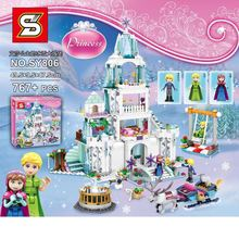 NEW SY806 767PCS Cinderella's Romantic Castle Anna Elsa Building Blocks Brick Toys Girls with Friends
