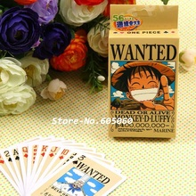New 54 pcs/pack Anime One Piece Luffy Wanted Collection Poker Cards Playing Cards Cosplay Board Game Cards With Box