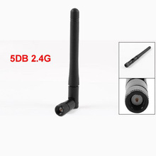 YOC Hot New 12g Black 5DB 2.4G SMA Male Wireless Network Card Wifi Lan Antenna Adapter