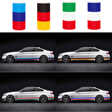 15CM*100CM 3 Colors Hood Decal National Flag PVC Film Waterproof Car Sticker Car-styling for BMW VW For Engine Cover Car Body
