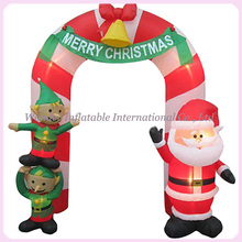 12ftH popular santa inflatable christmas arch for sale(China)