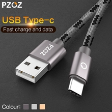 PZOZ usb c type-c cable adapter Fast Charging Data Type C USB-C 3.1 Charger Cable For Xiaomi mi5 mi6 Oneplus 5 Samsung S8 note 8(China)