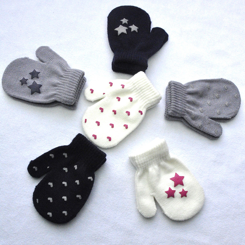 Fashion Winter Warm Child Toddler Baby Boy Girl Kids Gloves Soft Knitting Mitten