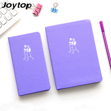 Joytop  2017 Cloth Street Snap Notebook Cute Kawaii Stationery Vintage Pockets Notepad Cloth Solid color Notebook 4 Styles gift
