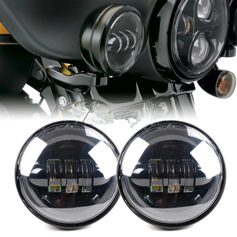 4.5 inch Motorcycle LED Daymaker Auxiliary Passing Lights Bulb for Harley Davidson