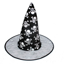 brand new color random 1Pc Adult Womens Witch Hat For Halloween Costume Accessory caps hats Oxford fabric(China)