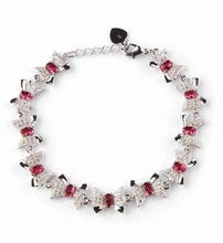 Favourite Red Cubic Zirconia Bracelet Silver Plated R3268 Beautiful Noble Generous best sell Rave reviews Promotion Best Sellers