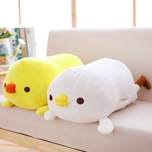 1pc 60cm Soft Kawaii Yellow Chicken Plush Pillow Stuffed Animal Cartoon Hand Warmer Lovely Gift Toy Doll for Valentine Gift(China)