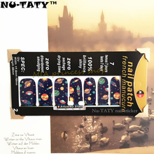 Nu-TATY Multicolor Star spaceship Nail Arts Nail Sticker Waterproof Nail Decal Sticker Gel Polish French Manicure Patch
