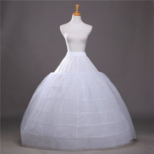 2017 SoDigne Ball Gown Petticoats For Wedding Dresses Elastic 6 Hoops One Tiers Dress Underskirt Crinoline Wedding Accessories(China)