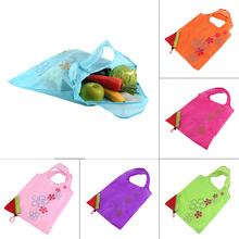 Creative Reusable Foldable Shopping Bags Strawberry Shape Eco-friendly Convenient Handbag Storage Bag Free Shipping(China)