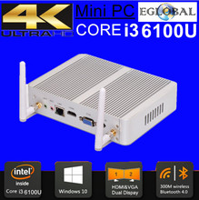 6 Gen Mini PC Windows 10 Intel Nuc pc Barebone Computer Intel Core i3 6100U 2GHz HD 520/5500 Graphics 4K HTPC wifi HDMI VGA