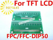 100PCS FPC FFC  turn DIP 50P  0.5/1.0MM Pitch IC adapter Socket / Adapter plate  PCB for TFT LCD