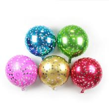 50pcs/lot 18inch Five-pointed clear star printed foil balloon green Birthday Decorative Toys globos metalic 5 color