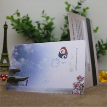 50Pcs Wholesale Credit Card Size LOGO printed PVC Plastic VIP Membership/Business Gift Visiting Magnetic Stripe Card free Design(China)