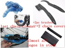 5pc/Lot bicycle repair tool kit Bike Chain Cleaner+Cycling Clean Brushes+cycle Chainstay Protector bicycle chain cover sport mtb(China)