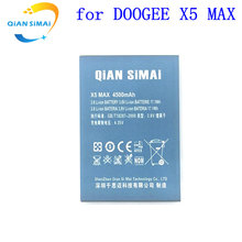 QiAN SiMAi For DOOGEE X5 MAX X5Max BAT1648400 Mobile Phone 1PCS 2017 New High Quality Replacement 4500mAh Battery + Track Code(China)