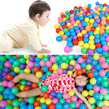 2017 Swim Fun Colorful Soft Plastic Ocean Ball Secure Baby Kid Pit Toy 7CM 1/50/100pcs APR29_17(China)