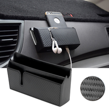 Car Organizer Container Phone Holder Stand Car Storage Box For Phone Charge Keys Coins Stowing Tidying Car-Styling Auto Seat Bag(China)
