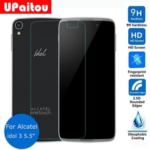 UPaitou Protective Film for Alcatel One Touch Idol 3 5.5 inch / 4.7 inch Tempered Glass Screen Protector on Idol3 6045 / 6039