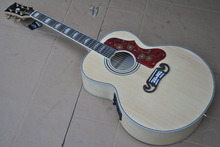 New Acoustic Guitar SJ200 Natural Top Solid spruce Back / Side Tiger Stripes with Fishman Prefix Plus-T Pickups(China)