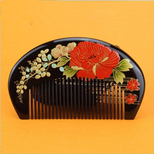 Hot sale 1pcs boxwood handmade painting comb Wood Hair Combs makeup Head Massager Antistatic Wooden brush best gift(China)