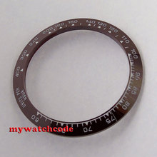 39mm brown ceramic bezel insert for 40mm watch made by parnis factory B46(China)