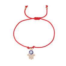 EVIL EYE 1pc new Hand woven red string bracelet trendy Rope chain palm/Rabbit,/butterfly/bead charm eye red bracelet for woman(China)