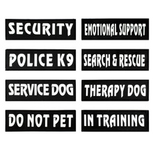 2Pcs Custom Dog Police k9 Harness  Vest Label Personalize  Service Dog In Training Dog Collar& Leash DIY Label Sticker Supplies