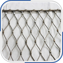 Pliable inox balustrade and railing cable wire mesh