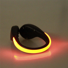 Bike Bicycle Shoe Light Tool LED Luminous Shoe Clip Light Night Safety Warning LED Bright Flash Light For RunningCycling A2(China)
