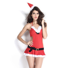 2014 New Arrival 4 Pieces Sexy Ladies Miss Santa Lingerie Christmas Costume Lc7242 Sexy Adult Costume For Women Free Shipping
