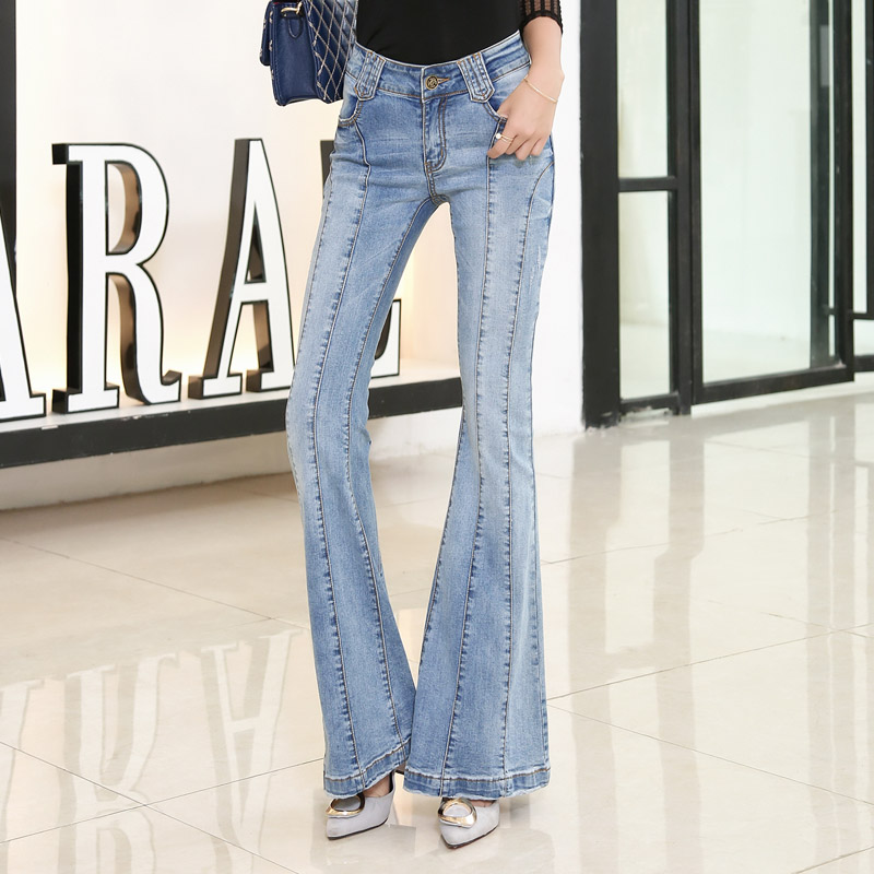 2017 New Fashion Flare Pants Jeans Women Ladies Jeans Denim Plus Size Female Flare Jeans Autumn Spring Winter Jeans TrousersОдежда и ак�е��уары<br><br><br>Aliexpress