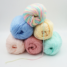 wholesale 10 pieces*50g yarn for knitting to knit cashmere wool baby Crochet velvet thread knitting needles sweater Fiber t52