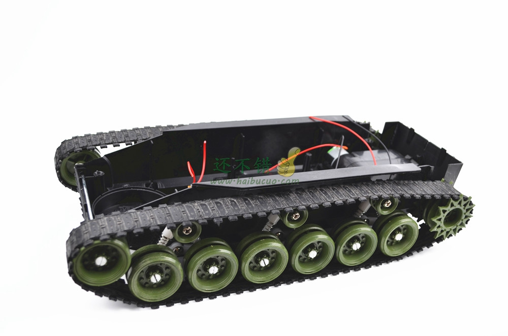 DIY 85 Light shock absorption Plastic Tank Chassis with Rubber Crawler belt Tracked Vehicle Big Size<br>