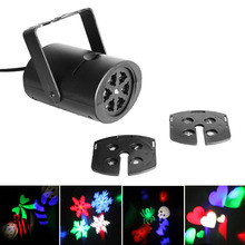 4 W Gobo Stage Light with Changeable Multi-pattern Cards LED RGBW Auto Rota laser dj party disco light