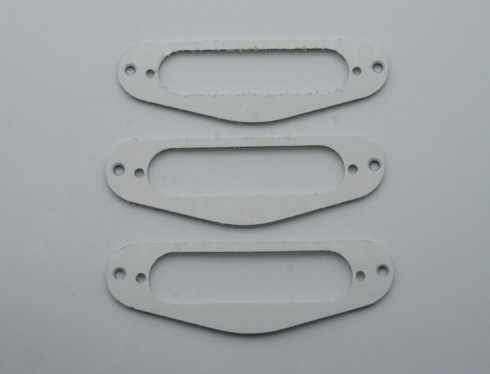 3x White 3 Ply Guitar Single Coil Pickup Surround Ring for   ST Sized Pickup<br><br>Aliexpress