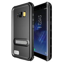 360 Degree Waterproof Case for Samsung Galaxy S8 S8 Plus Kickstand Armor Cover for SM-S8 Plus Swimming Phone Case Protector