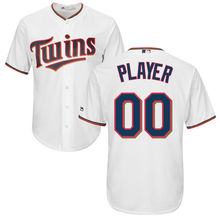 MLB Men's Minnesota Twins Baseball Red Cool Base Custom Jersey(China)