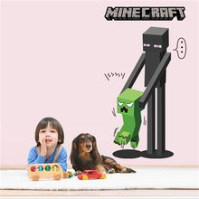 1Pc 3D Minecraft Wall Sticker Diy Wall Stickers For Kids Rooms Home Decoration Accessories For Living Room Bedroom Posters
