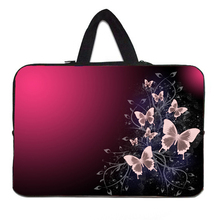 "Butterfly Painted Laptop Case 15"" Fashion Woman Bag Nylon Handle Notebook Bag 15.6 15.3 15.4 Inch Viviration Latest Laptop Cover"