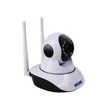 16g ESCAM G02 Dual Antenna 720P Pan/Tilt WiFi IP IR Camera Support ONVIF Max Up to 128GB Video Monitor