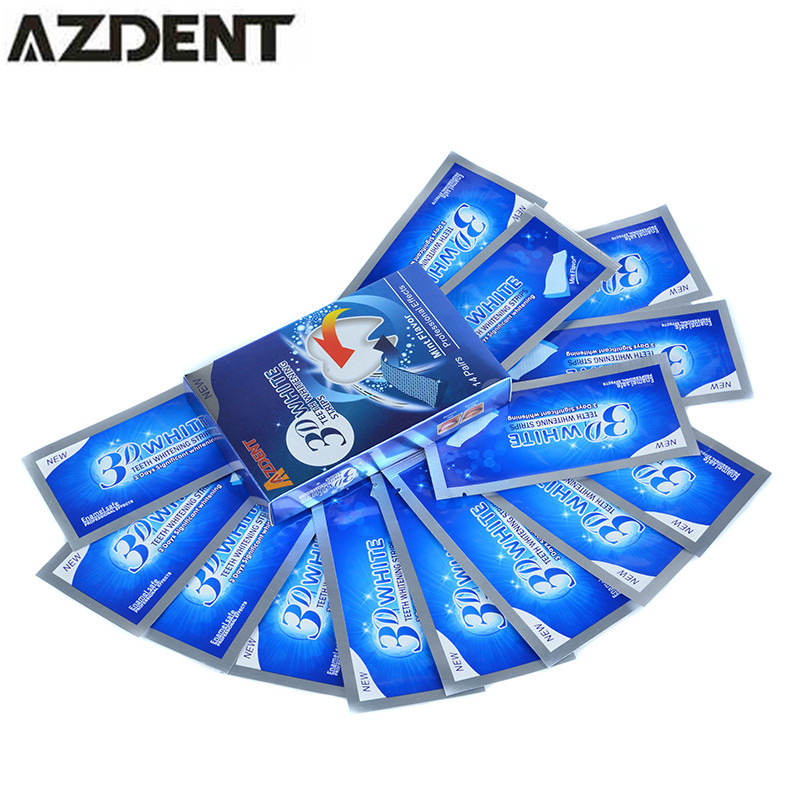 14 Pouch/28pcs AZDENT Professional 3D Teeth Bleaching Gel Advanced Whitening Teeth Whitening Strips Tooth Whitener Oral Hygiene(China)